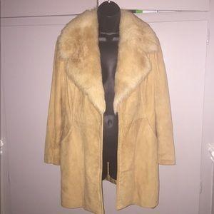 Free People Fur Leather Suede Jacket S